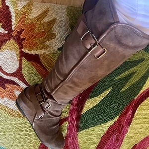 Knee High Winter Faux Suede Boots